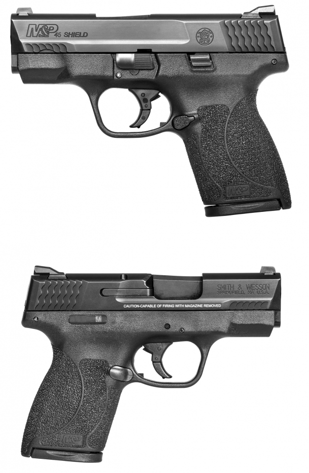 The Smith & Wesson M&P SHIELD subcompact pistols are now available in .45 ACP