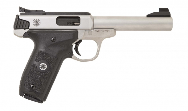 The right side of the new Smith & Wesson SW22 Victory Target Model pistol