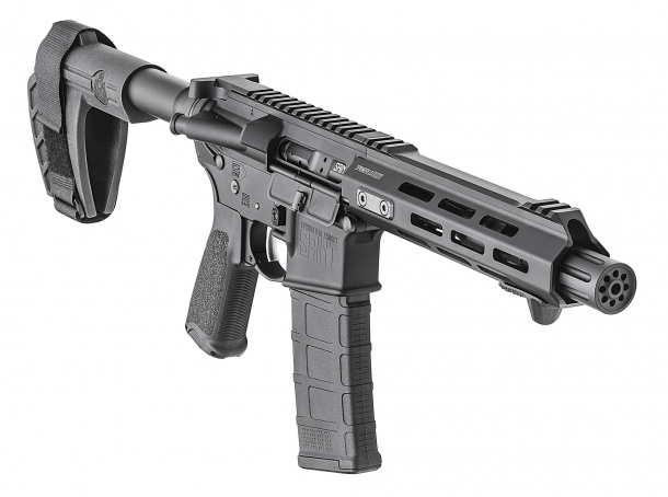 The Springfield Armory SAINT AR-15 Pistol features an SBX-K armbrace