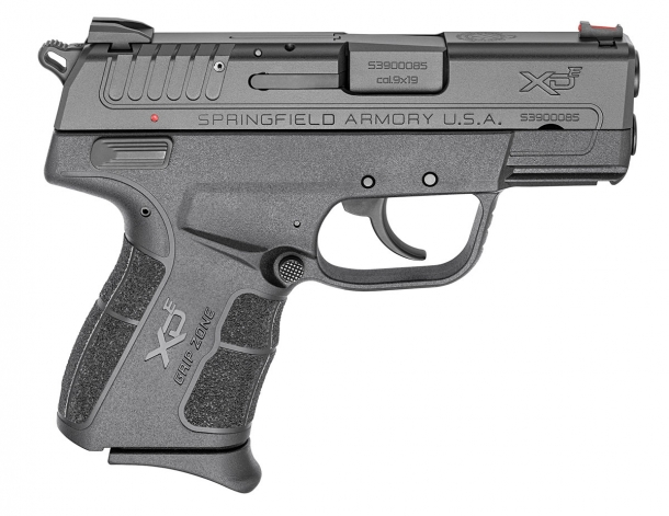 Right side of the Springfield Armory XD-E pistol