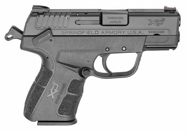 Ther XD-E features an external hammer and an ambidextrous decocker and manual safety