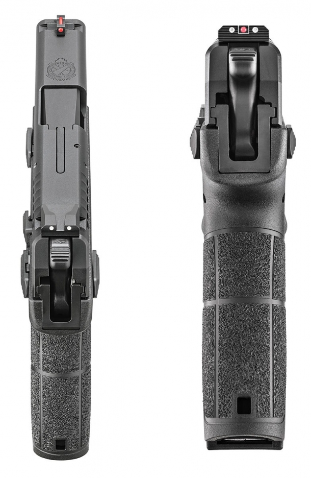 The Springfield Armory XD-E is extremely slim