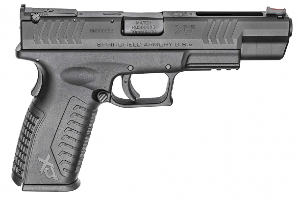 "The right side of the Springfield Armory XD(M) 5.25"" 10mm Auto pistol"
