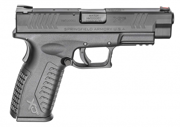 "The right side of the XD(M) 4.5"" 10mm Auto pistol"