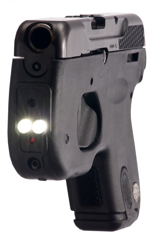Tra le caratteristiche della Taurus Curve c'è il puntatore integrato: due Led e un laser a luce rossa inseriti nel Dust Cover