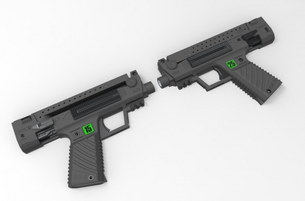 Projects: SMG 15 and SMG 25 bullpup pistols
