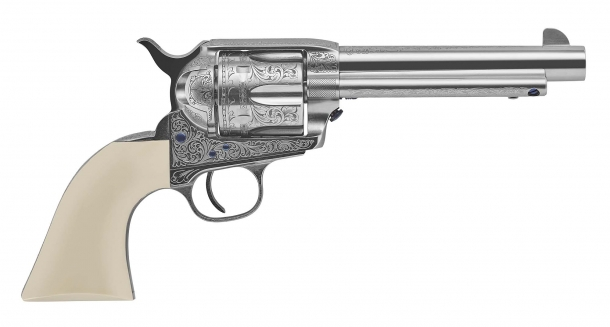 The Uberti Teddy revolver, a Colt 1873 Single Action Cattleman New Model replica