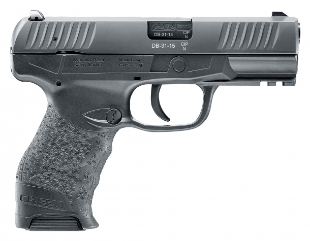 The new Walther Creed pistol, seen from the right side