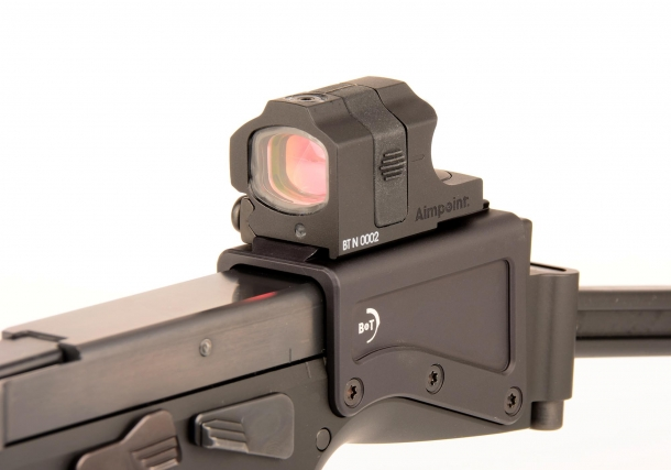 The Aimpoint NANO reflex sight which comes with the B&T USW kit