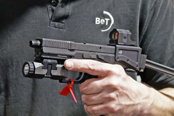 "The 2017 SHOT Show marked the official public debut of B&T's ""Universal Service Weapon"""