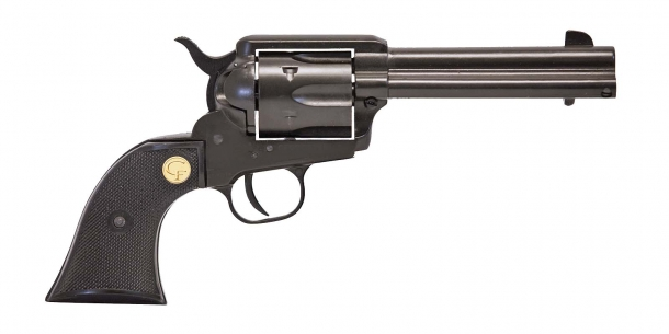 "Chiappa's SAA .17 HMR caliber revolver is now also available in a 4.75"" barrel variant"