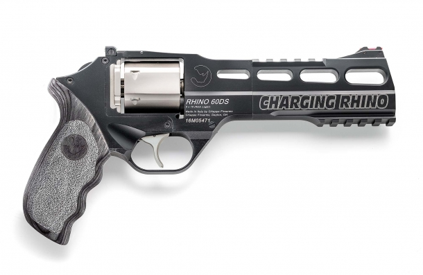 "The ""Charging Rhino"" is an evolution of Chiappa's revolutionary revolver, conceived for competition shooting"