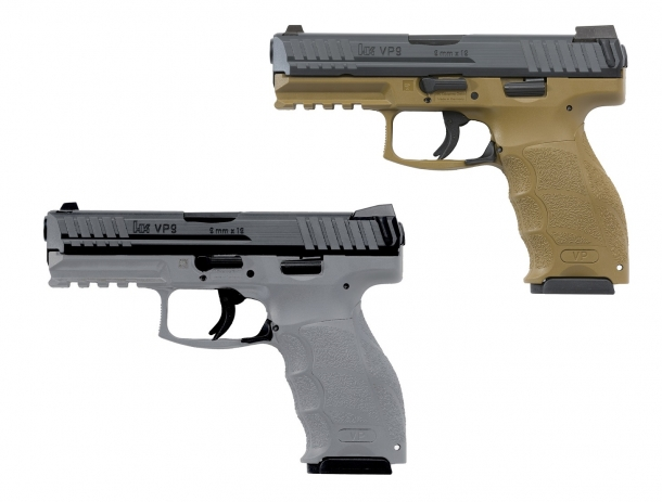 Heckler & Koch's VP9 and VP40 are now available with FDE and grey frames