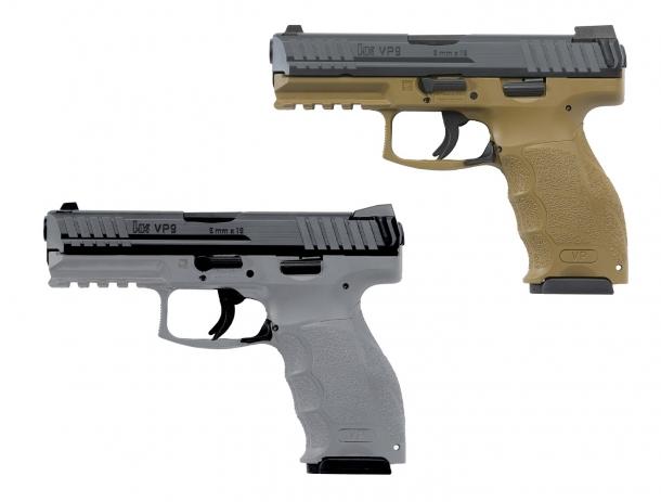 Le VP9 e VP40 di Heckler & Koch sono ora disponibili anche con fusto grigio o color sabbia