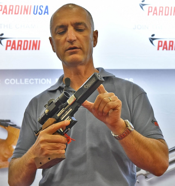 Pardini's SP Bullseye pistol as showcased at the SHOT Show