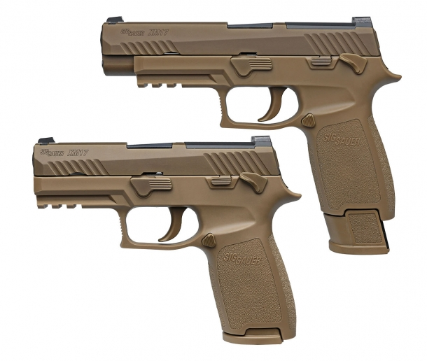 The SIG Sauer XM17 is a modular P320-based pistol, built on a standard frame and compatible with different calibers, slides, barrels and magazines to adapt itself to different operative needs