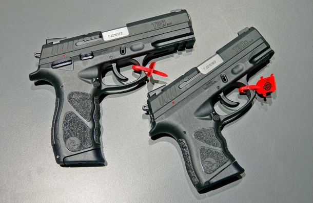 The Taurus TH pistol is available in Full and Compact sizes, and calibers are .380 Auto, 9 mm Luger, .40 S&W