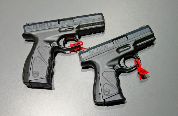 The Taurus TS pistol will be available in Full and Compact sizes, and calibers are 9 mm Luger or .40 S&W