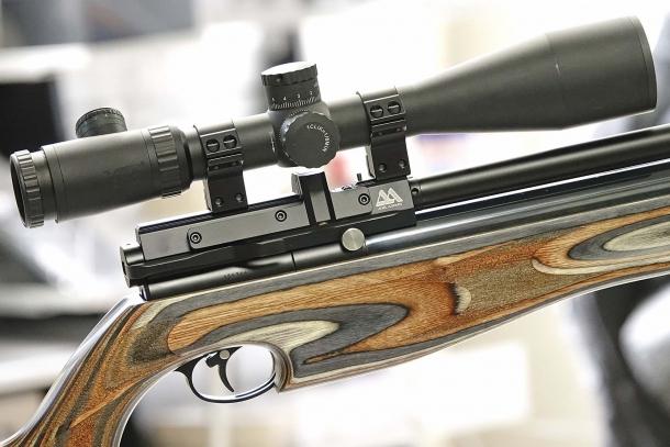 La carabina è priva di mire metalliche, ma può montare ottiche di vario tipo