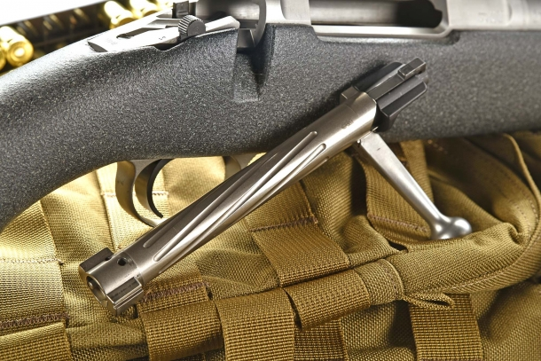 The bolt of the Barrett Fieldcraft rifle, removed from the receiver
