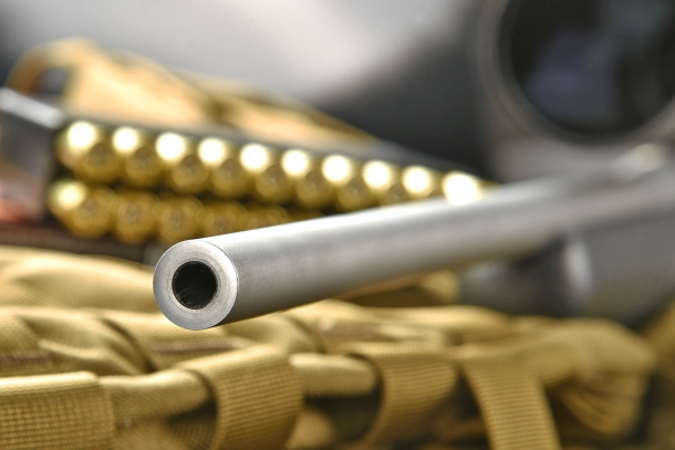 A close-up of the muzzle: no target crown, but a threaded version is available upon request
