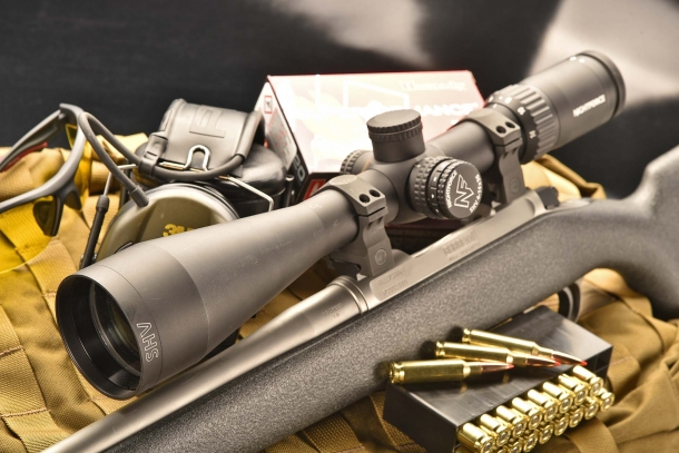The Nightforce SHV 4-14x56 riflescope