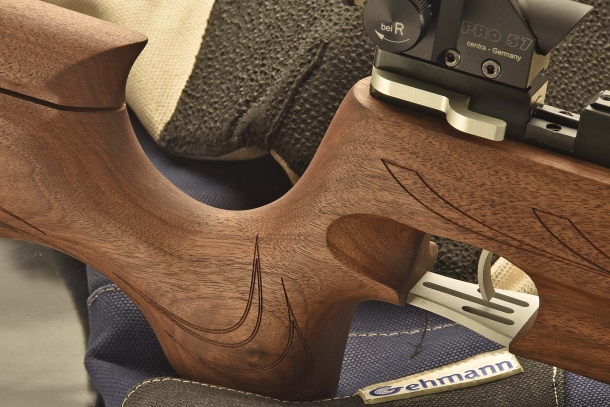 The deeply recessed, traditional competition pistol grip