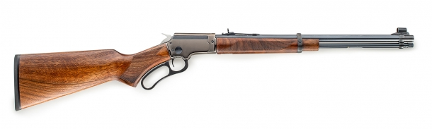 Side view of the LA322 Deluxe rifle