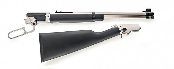 The LA322 Kodiak Cub rifle, disassembled