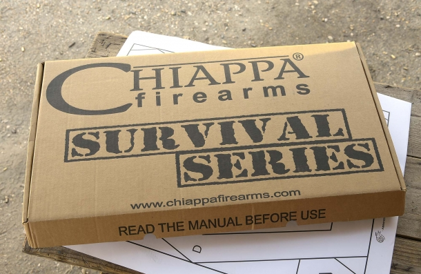 "The Chiappa Firearms M6 box: ""survival"", tells it all"