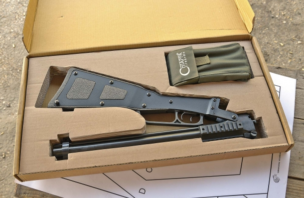 The Chiappa Firearms M6 box inside, with the X-Caliber kit