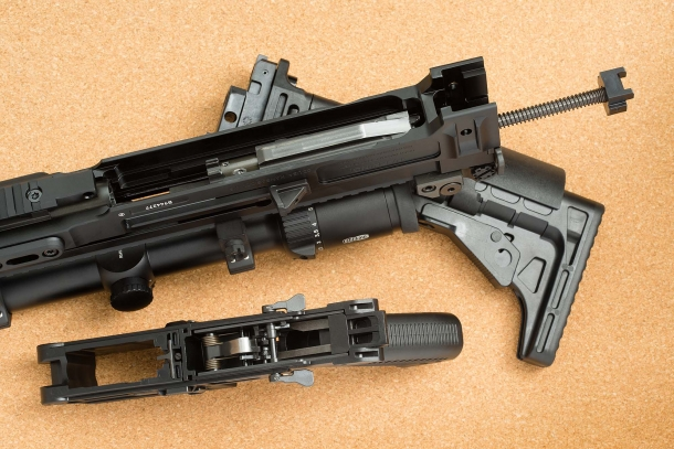 The CZ 805 Bren S1 semi-automatic rifle, field-stripped