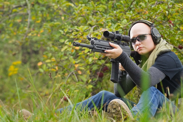 If compared to other modern sporting rifles or patrol rifles, the Joshua MK5 can (and will) engage targets at significative longer ranges while retaining CQB capabilities