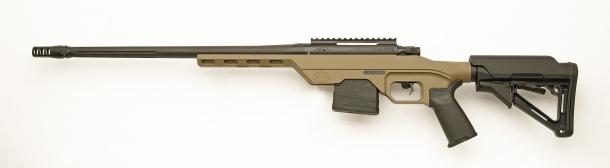 vista laterale sinistra dell'arma