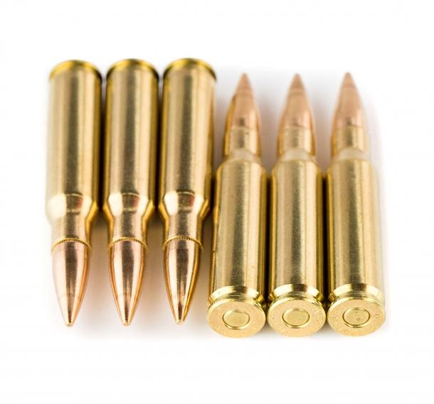 Il commercialissimo ma efficacissimo .308 Winchester con cui è camerata la canna multiradiale Sabatti utilizzata da Riccardo Ranzani