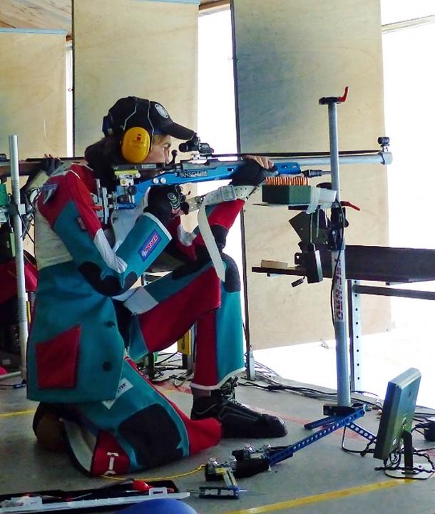 Riccardo Ranzani al tiro in ginocchio a 300 metri
