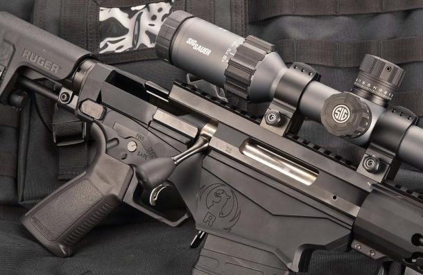 Il fucile, con l'otturatore chiuso