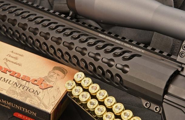Il fucile monta un manicotto copricanna Samson Evolution