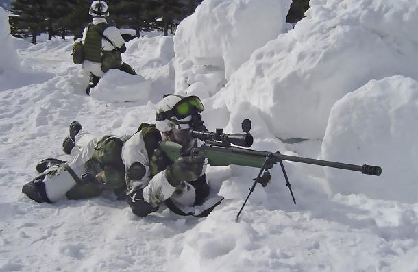 Un Sako TRG 42 in azione