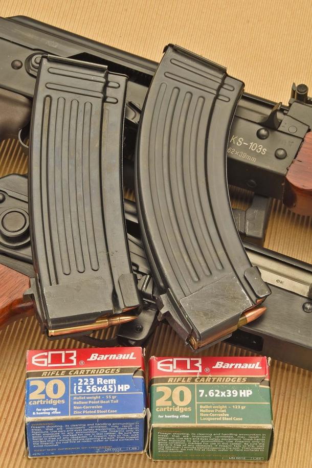 Gli SDM AKS-74 e AKS-103 sono camerati rispettivamente per il 5,56mm NATO (.223 Remington) e il 7,62x39mm Russian