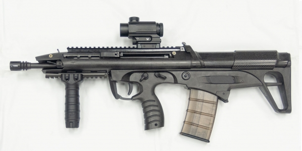 ST Kinetics BR18 bull-pup assault rifle - left side