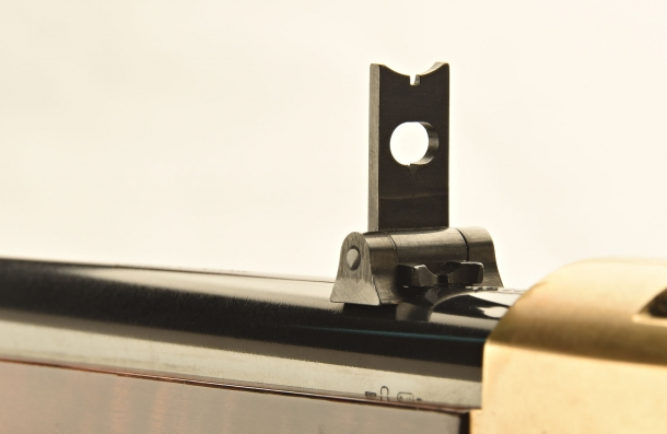 The folding leaf rear sight, rised