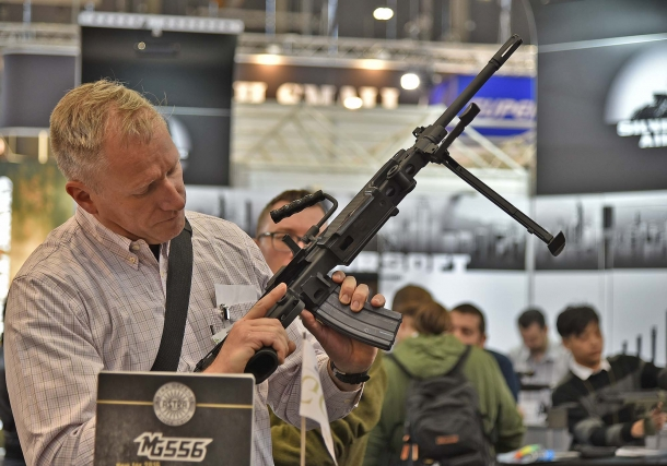 The MG556 caught the attention of many a visitor at the IWA expo this year