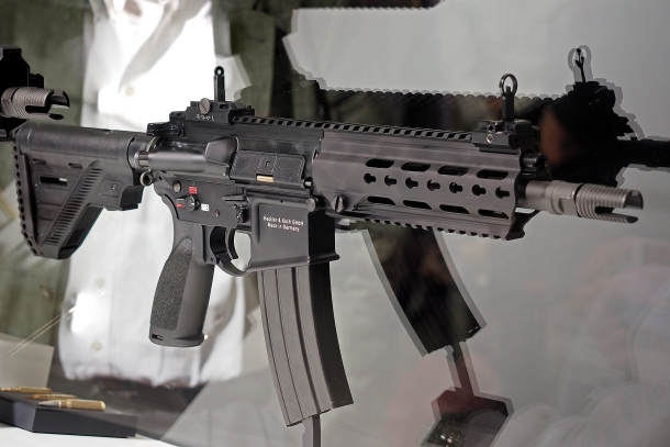 The .300 AAC Blackout and .300 Whisper chamberings are also available in an HK416 platform, dubbed the HK337