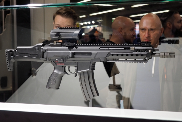 The new HK433 assault rifle was on stand at the 2017 EnforceTac