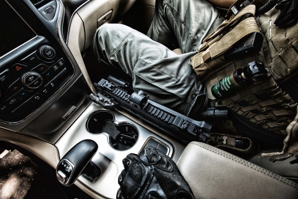 Low width makes the Beretta PMX very easy to keep readily accessible on a service vehicle