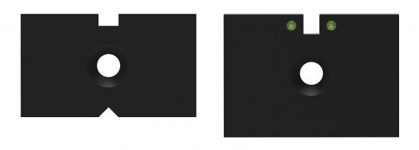 I differenti tipi di inserti della tacca di mira della carabina Diana 34 EMS