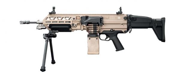 FN EVOLYS light machinegun in 5.56x45mm NATO caliber, left side