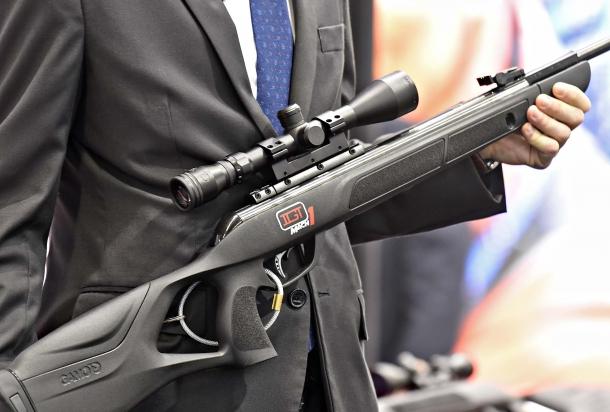 La carabina G-Magnum 1250 della GAMO presenta una calciatura ergonomica denominata ERGOGAMO
