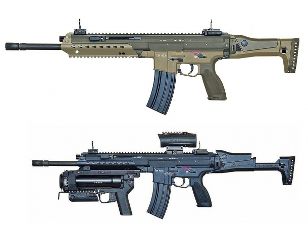 The new Heckler & Koch HK433 assault rifle, seen from the left side